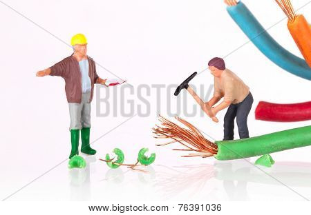 Miniature Worker With Pickaxe