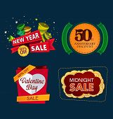 various colorful banner and tittle template for sale event poster