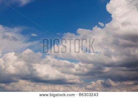 early morning sky background. Cloudscape