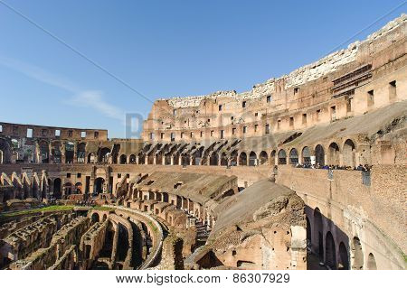 Rome, Italy - January 21, 2010: Colosseum