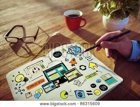 Businessman Responsive Design Content Idea Creativity Concept