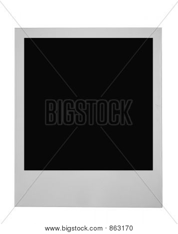 blank frame on pure white background