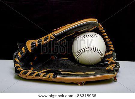 Slowpitch Softball Mitt And Ball