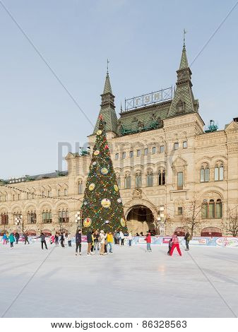 Rink On Red Square