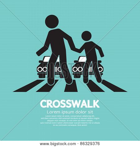 Crosswalk Graphic Sign.