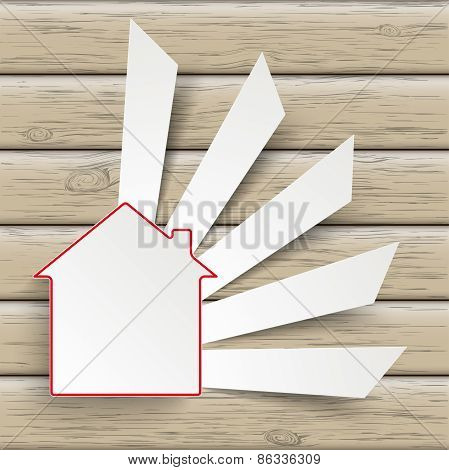 House Cutting Banners Wood