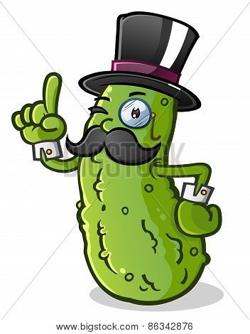 Pickle Gentleman Cartoon Character