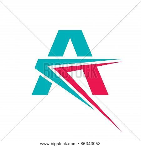 Letter A - vector logo concept illustration. Letter A logotype. Abstract logo. Vector logo template.