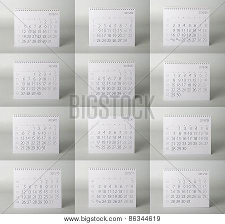 Calendar. Two thousand fifteen year calendar.