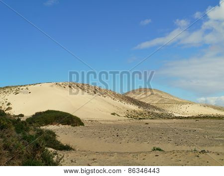 The white dunes of Costa Calma