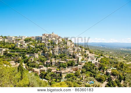 View On Gordes, A Small Typical Town In Provence, France