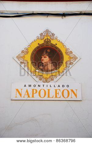 Napoleon sign, Sanlucar de Barrameda.