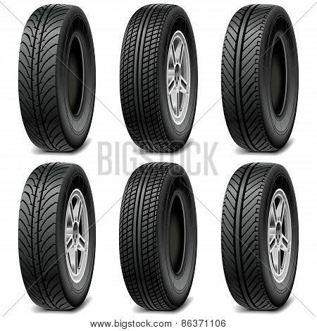 Vector Car Tires