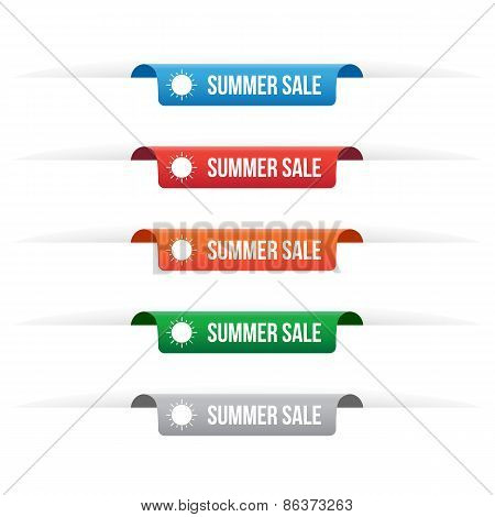 Summer Sale Paper Tag Labels