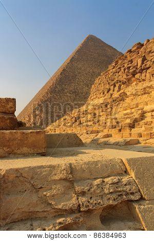 Pyramids Of Giza In Cairo, Egypt