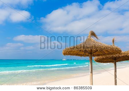 Majorca Es Trenc ses Arenes beach in Campos Balearic islands of Mallorca Spain