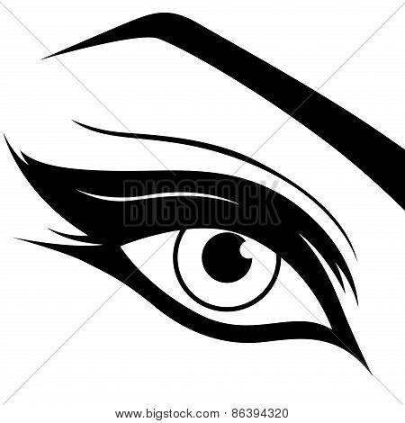 Black Eye Silhouette Close-up