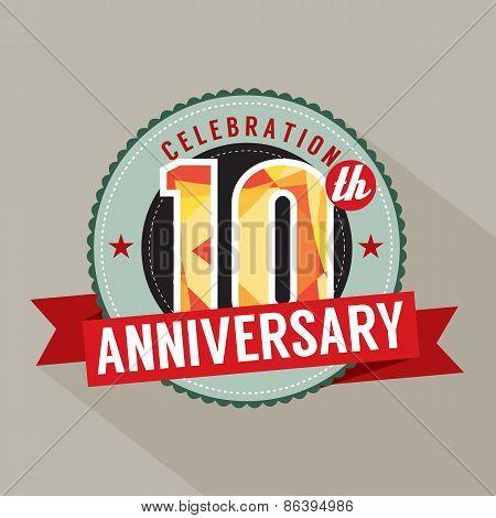 10Th Years Anniversary Celebration Design.