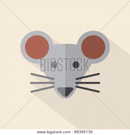 Modern Flat Design Mouse Icon.