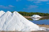 Mallorca Ses Salines Es Trenc Estrenc saltworks in Balearic Islands Spain poster