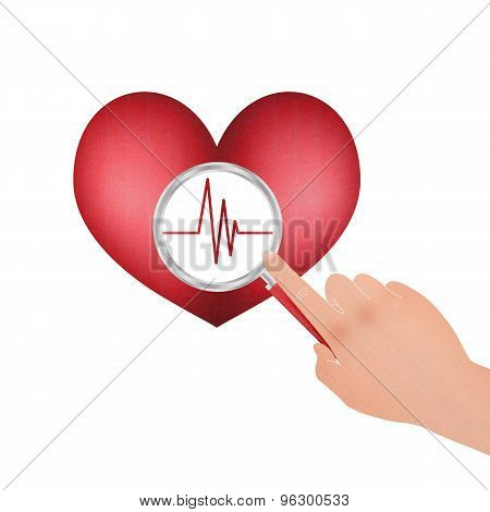 Vital Signs Of The Heart And Magnifier