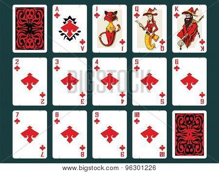 Halloween Playing Cards - Diamonds Set