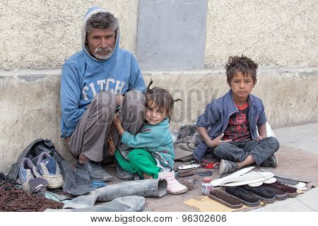 Poor Family In Leh, India