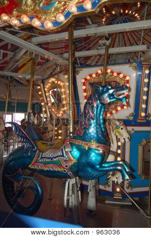 Sea Dragon Carousel Horse