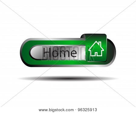 Home icon, button. Home button design element vector