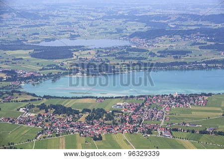 Bavarian Lake Forggensee From Above