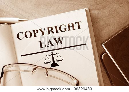 Note with words  Copyright Law.