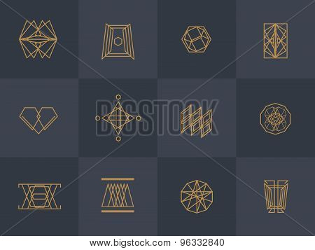 Geometric trendy hipster Icons
