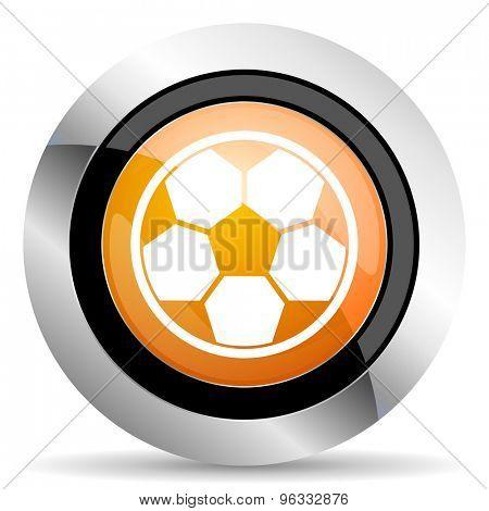 soccer orange icon football sign