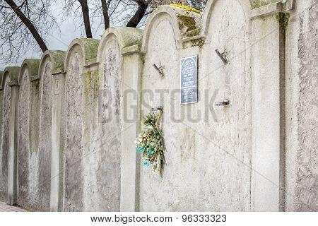 Jewish Ghetto Wall, Krakow, Poland