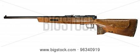 Old German carabin Mauser 98-K separated on white background