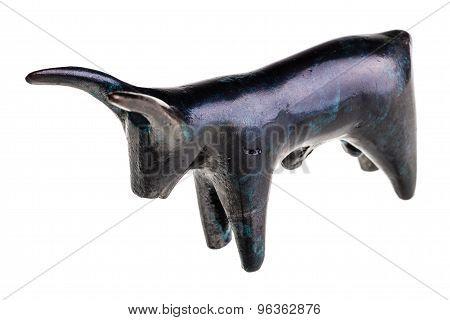 Stone Bull Figurine