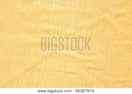 weave material - close up of yellow cotton surface poster