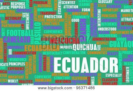Ecuador as a Country Abstract Art Concept