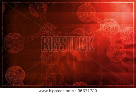 DNA Helix Abstract Science Genetic Background Art poster