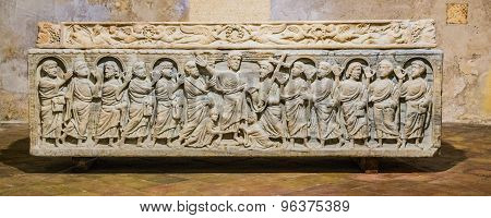 Legendary Sarcophagus Of The Martyr Saint Mitre In Aix