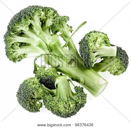 Broccoli cabbage isolated on white background