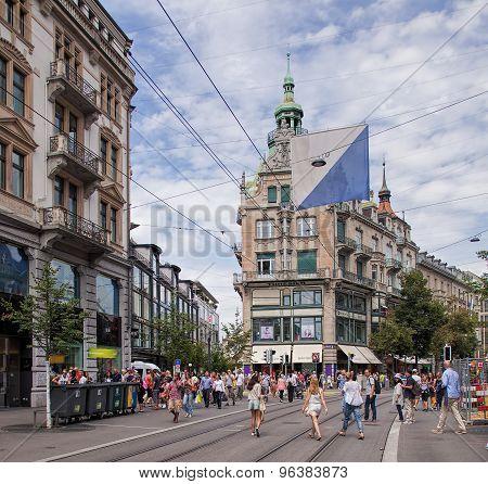 Bahnhofstrasse Street In Zurich