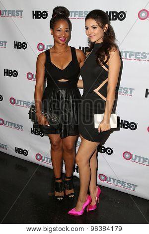 LOS ANGELES - JUL 17:  Monique Coleman, Victoria Justice at the