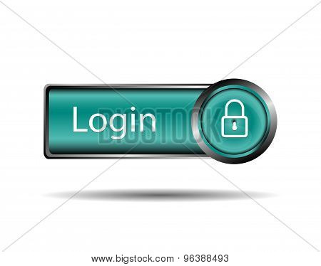Login icon. Key - Vector icon isolated
