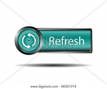 Refresh button blue isolatedvector