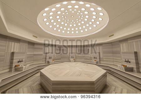 Interior of turkish bath hammam