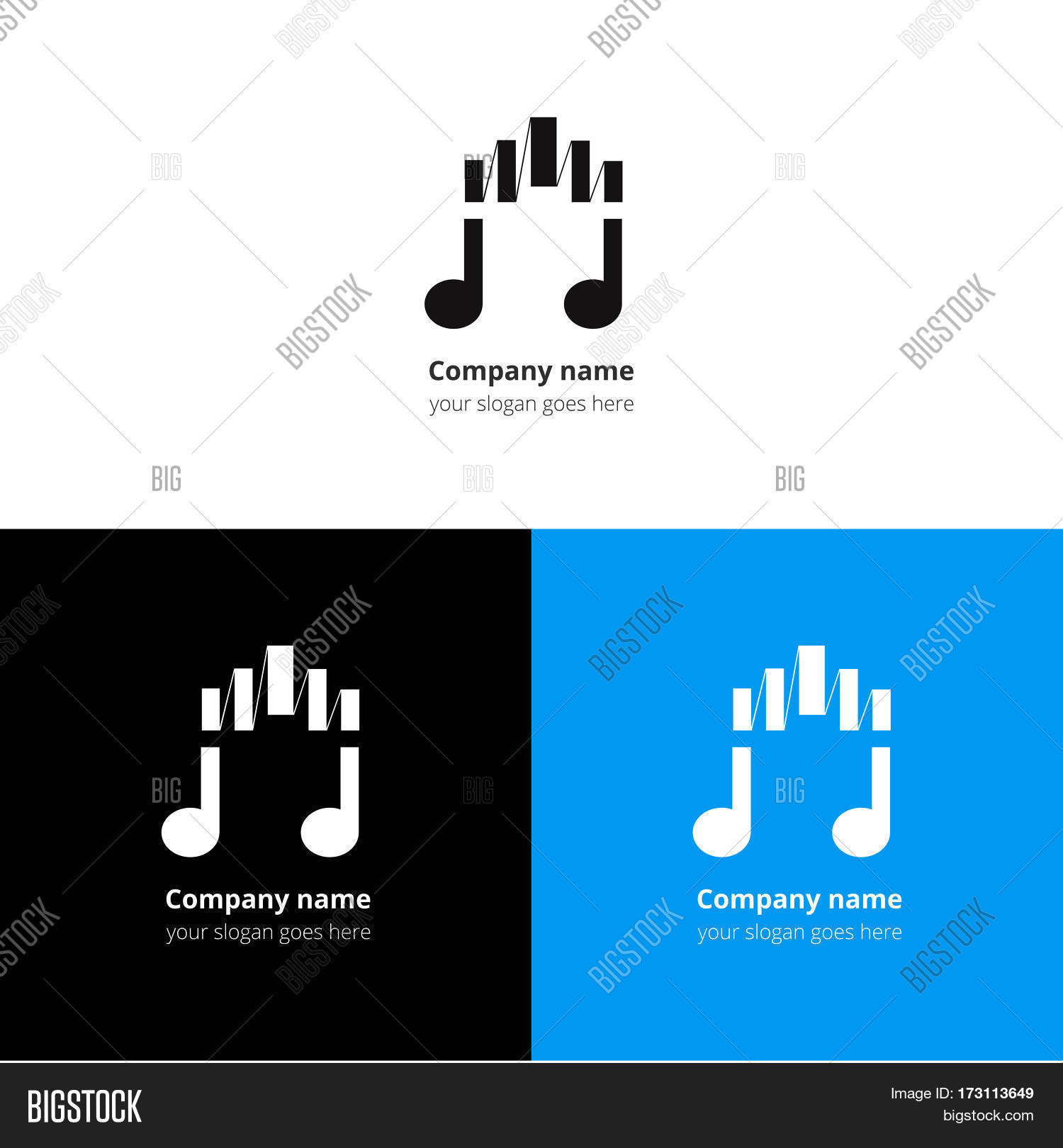 Music Note Logo, Icon Vector & Photo (Free Trial) | Bigstock