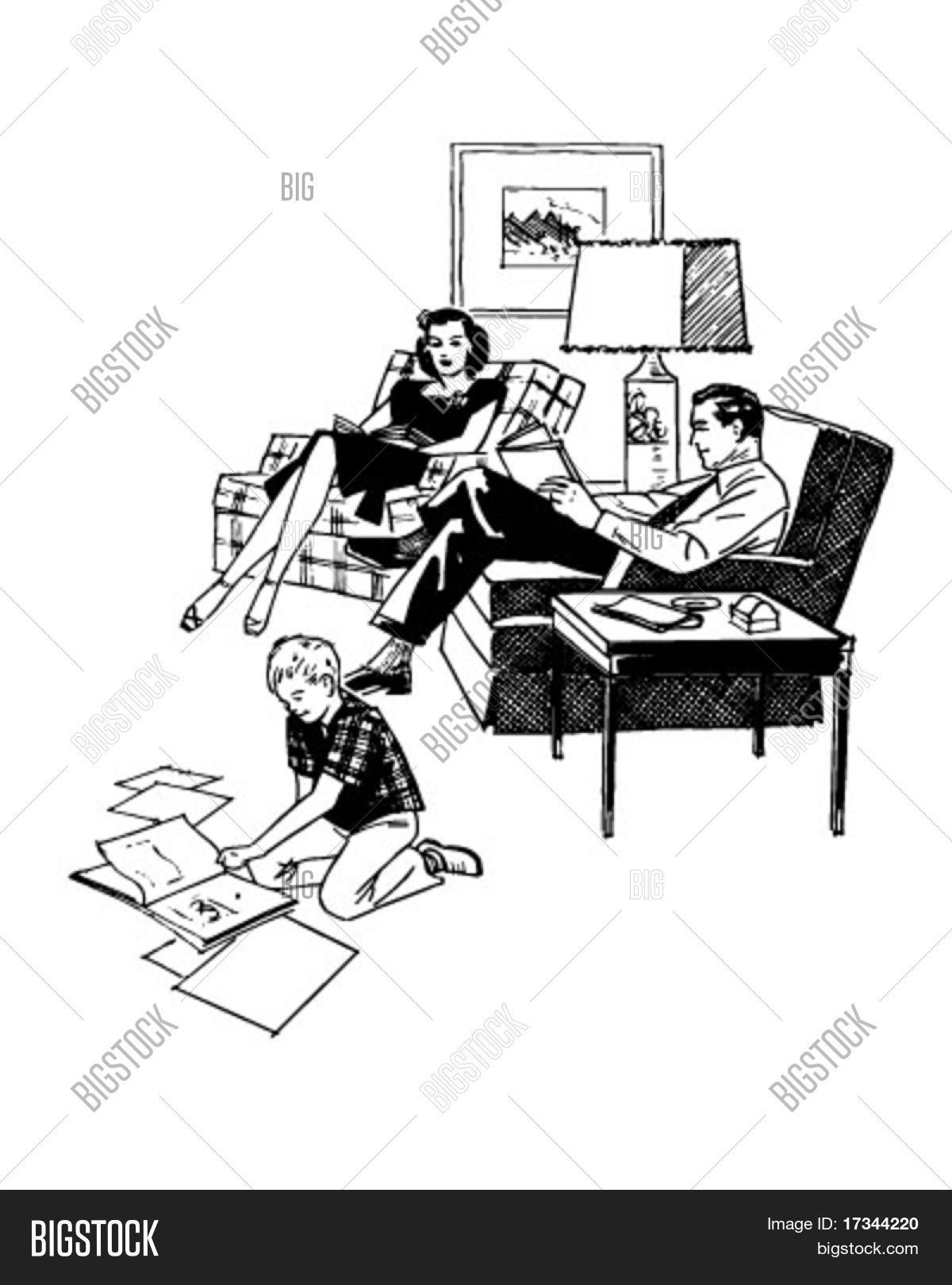 Family Relaxing Vector & Photo (Free Trial) | Bigstock