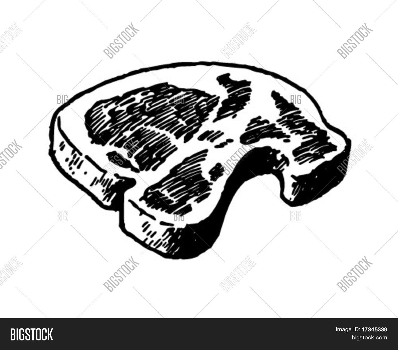 Steak - Retro Clip Art Vector  for Pork Chop Clipart  300lyp