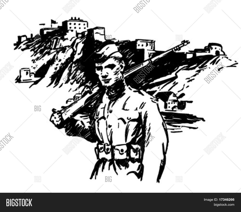 Soldier World War Vector Photo Free Trial Bigstock